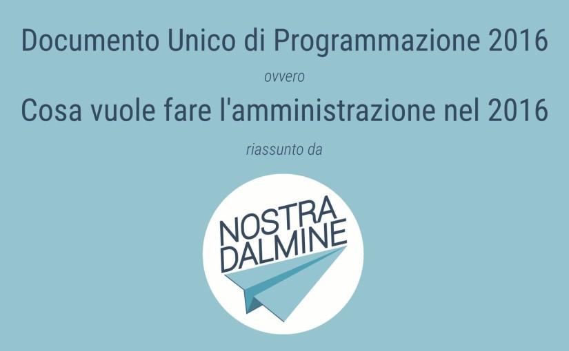 DUP Dalmine: gli obiettivi dell'amministrazione per il 2016