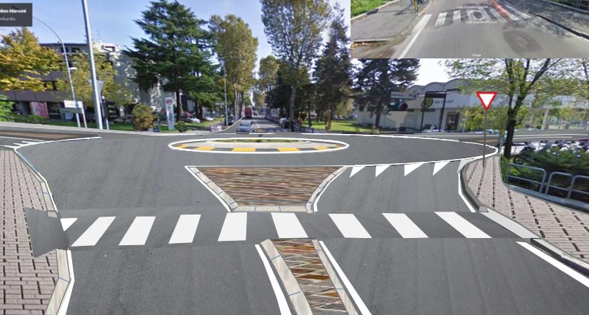 Il semaforo delle Poste verrà sostituito da una rotonda