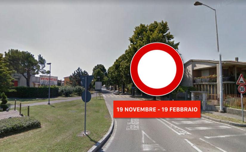 Le informazioni sulla chiusura del traffico a Mariano
