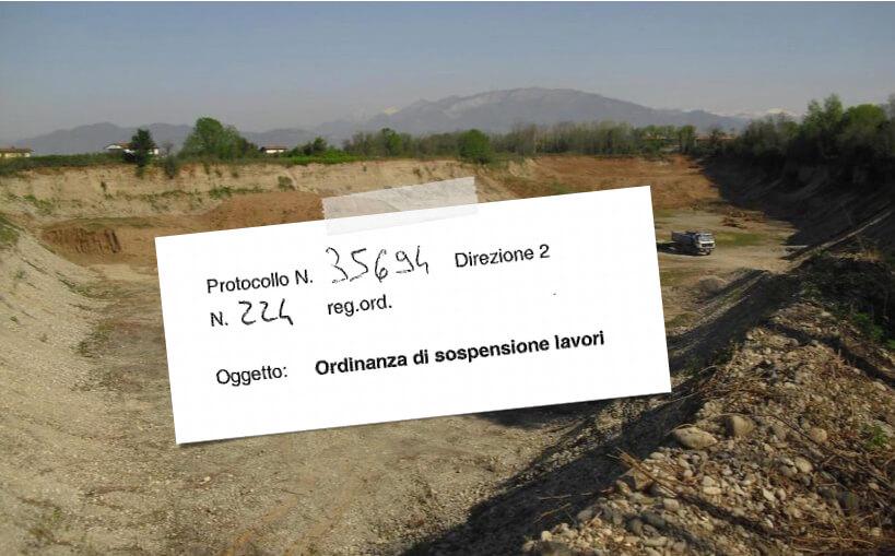 Il Comune ha sospeso i lavori di riempimento della Ex Cava Cividini per irregolarità