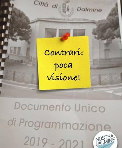 "DUP 2019, Nostra Dalmine: ""Contrari, manca una visione"""