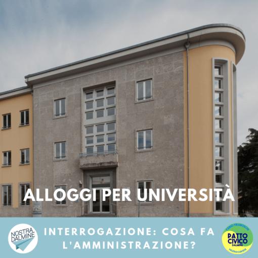 Qual è la situazione degli alloggi dell'Università di Bergamo?