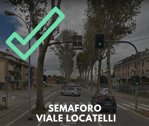 Semaforo di Viale Locatelli: apportata la modifica!