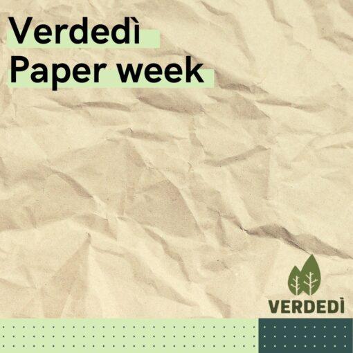 Verdedì 39: Paper Week